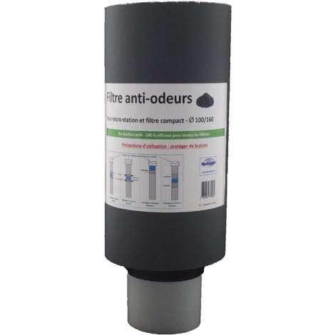 Filtre anti-odeurs micro-station au charbon actif SaniFiltre D160