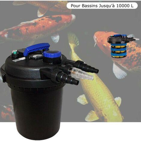 Filtre Bassins De Jardin Sous Pression, UV 11W, Jusqu'à 10000 Litres