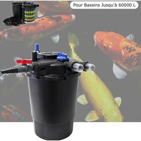 Filtre Bassins De Jardin Sous Pression UV 55W Jusqu'à 60000 L