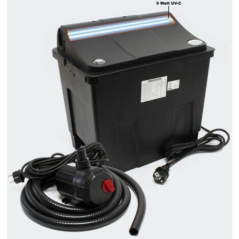 Filtre bio système de filtration complet UV + Pompe - Noir