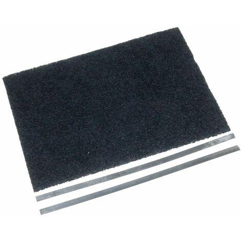 Filtre charbon (30,5x22,5cm + 2 tringles de fixation (à l'unité) (74X5226) Hotte 61624 BRANDT, SAUTER