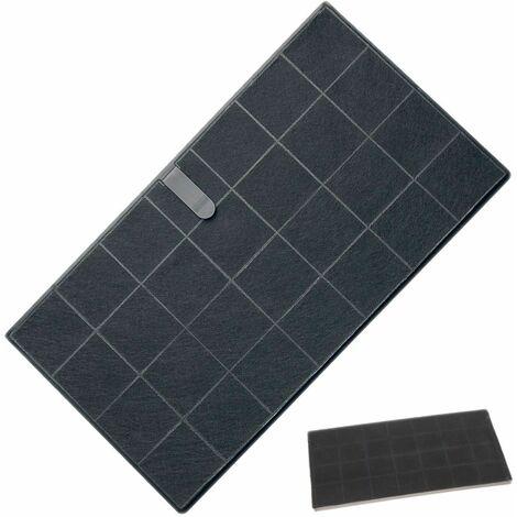 Filtre charbon FCHAR 350 x 191 x9mm (AFCFCAF25X10S) Hotte 285717 AIRFORCE, WHIRLPOOL, BAUKNECHT