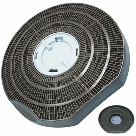 Filtre charbon rond type 25 (à l'unité) (902979362) Hotte 37174 ARTHUR MARTIN ELECTROLUX, SCHOLTES, ROSIERES