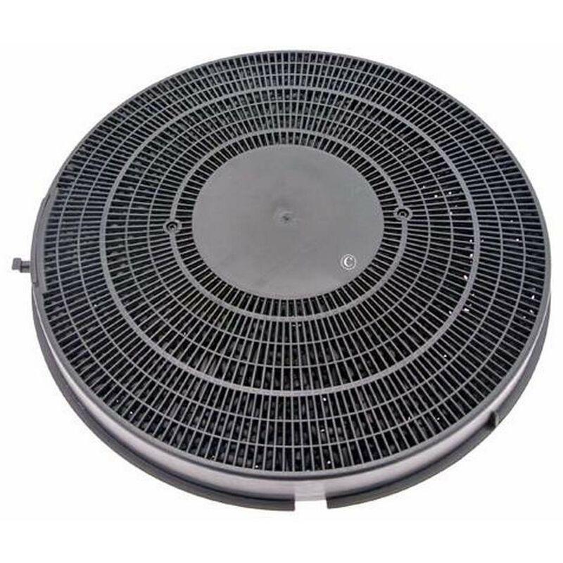 Filtre charbon rond type 26 (à l'unité) (51077-2412) (484000008789) Hotte WHIRLPOOL, BAUKNECHT, IGNIS, FUNCTIONICA, SCHOLTES, ARTHUR MARTIN