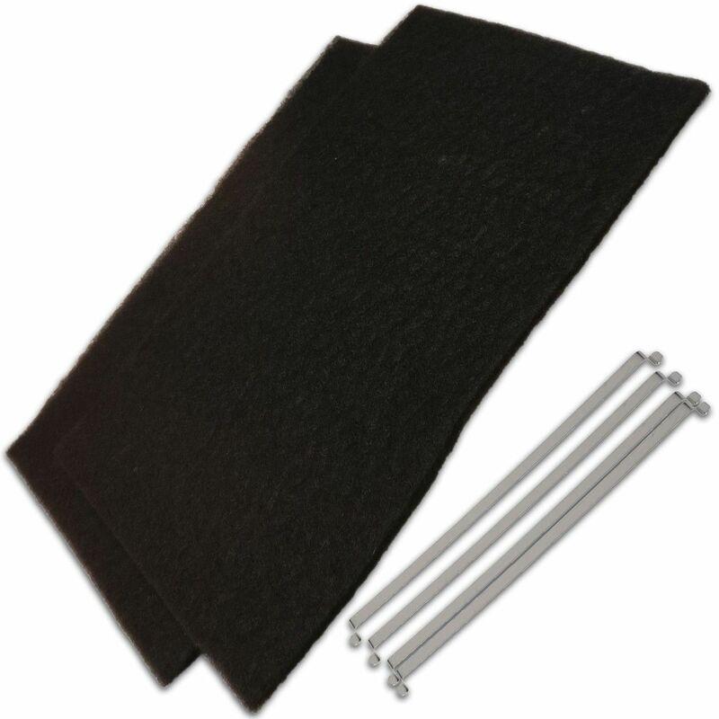 Lot de 2 filtres charbon (59884-3591) (74X5766) Hotte SAUTER FAGOR - Brandt