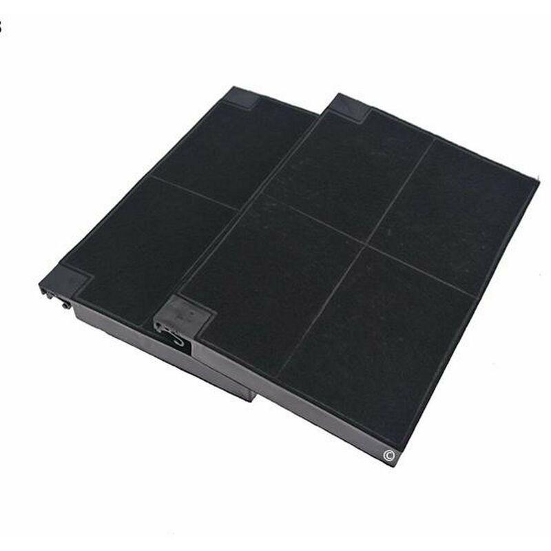 Lot 2 filtres charbons ROBLIN 5403002 23cm x 15cm (99333-3082) (5403002, EFF55) Hotte ROBLIN, DE DIETRICH, INDESIT, ARISTON HOTPOINT, ZANUSSI,