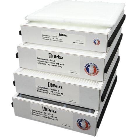 Filtre compatible purificateur d'air ALDES InspirAir Home SC240 - typedefiltration : Bactéries
