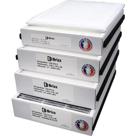 Filtre compatible purificateur d'air ALDES InspirAir Home SC370 - typedefiltration : Poussières