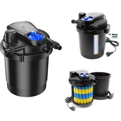 Filtre de bassin, étang à pression UV 11W / 6000L max