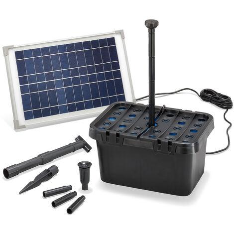 Filtre de bassin solaire Professional 12W 650 l/h Pompe de bassin de jardin esotec 100901