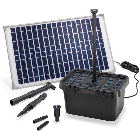 Filtre de bassin solaire Professional 25W 875 l/h Pompe de bassin de jardin esotec 100902