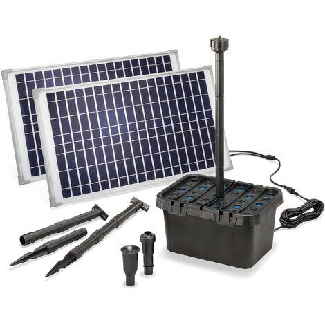 Filtre de bassin solaire Professional 50W 1700 l/h Pompe de bassin de jardin esotec 100904
