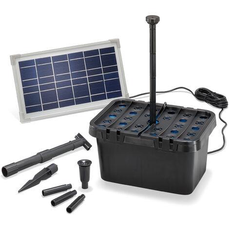"main image of ""Filtre de bassin solaire Professional 8W 380 l/h Pompe de bassin de jardin esotec 100900"""