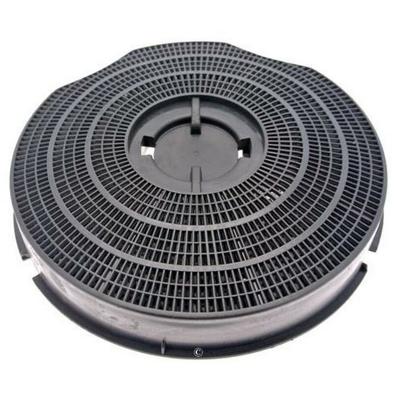 Whirlpool - Filtre charbon rond type 30 235mm 220g (à l'unité) (46582-2518) (484000008609) Hotte BAUKNECHT, ROSIERES, ARTHUR MARTIN ELECTROLUX,
