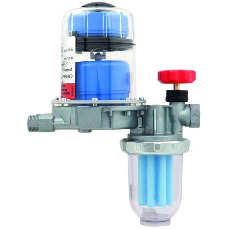 Filtre/Dégazeur automatique fioul monotube FloCo-Top-1K + robinet arret