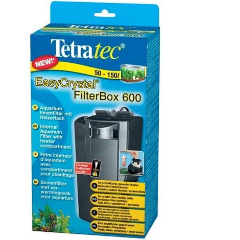 Filtre d'intérieur EasyCrystal Filter BoxTetra pour aquarium Débit 600 L/h