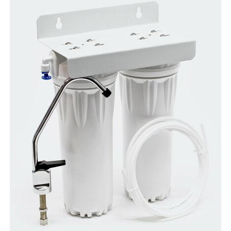 Filtre double avec filtre à sédiments Avec cartouches filtre 254 mm (10 pouces)