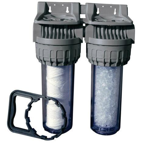 Filtre duo avec cartouche anti-sédiment 20µ et polyphosphate ALTECH NEUVE