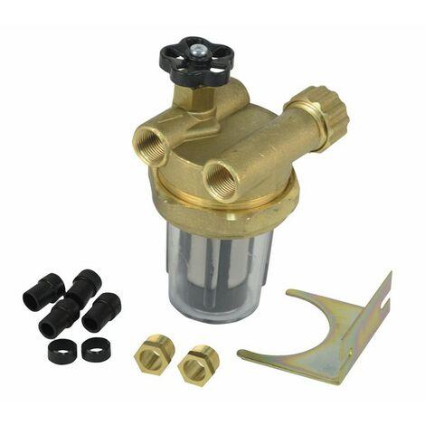 Filtre fioul 2 conduites à robinet d'arrêt FF3/8