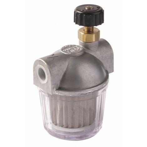 Filtre fioul avec robinet d'arrêt 100 Microns 1/2 Série 202