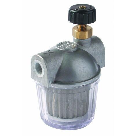 Filtre fioul avec robinet d'arrêt 100 Microns 3/8 Série 202
