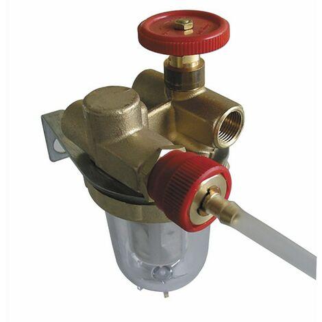 Filtre fioul recyclage à robinet d'arrêt FF3/8 - OVENTROP : 2122103+2127600