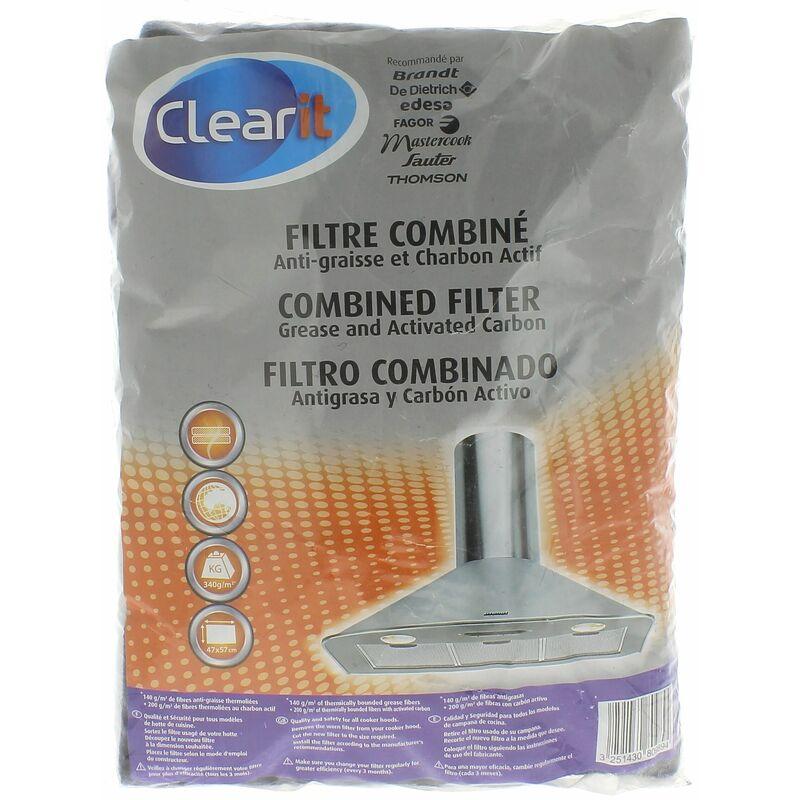 Universel - Filtre graisse + filtre charbon 57x47 pour Hotte