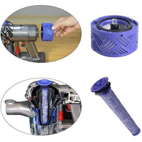 Filtre HEPA pour V6 et Pré-filtre de rechange compatible pour aspirateur Dyson DC58, DC59, DC61, DC62, DC74, V6, V7, V8 Hobby Tech