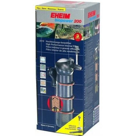 Filtre intérieur pour aquarium Eheim Biopower Modèle 200 pour aquarium jusqu'à 200 litres