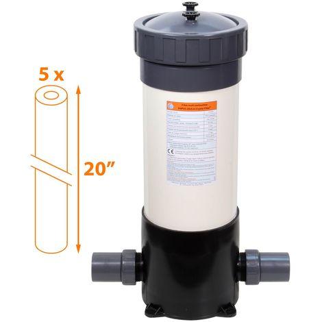 Filtre multi-cartouches 5 x 20 pouces - FHPVC-20x5-A Crystal Filter®