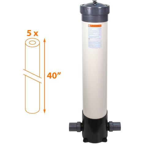 Filtre multi-cartouches - 5 x 40 pouces - FHPVC-40x5-A Crystal Filter®