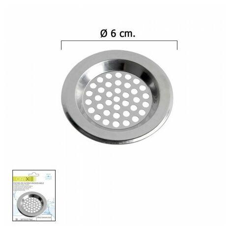 """main image of """"Filtre panier pour lavabo / Évier inoxydable 6 cm."""""""