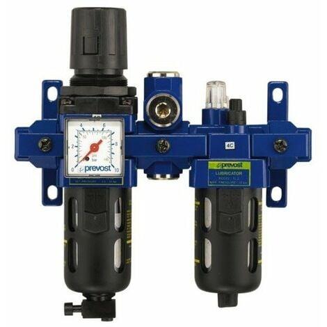 Filtre regulateur lubrificateur 2 blocs avec manometre - g 3-8