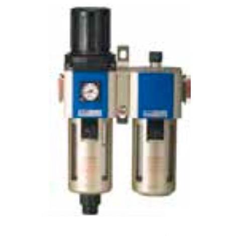 Filtre régulateur + lubrificateur + manomètre 0 à 10 bars raccord 3/8'' - FR+L3/8 - Alsafix