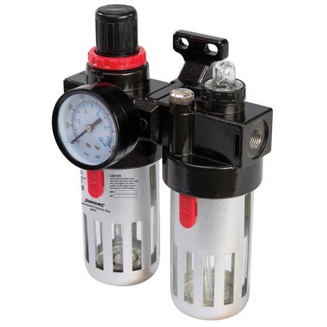 Filtre régulateur lubrificateur SILVERLINE pour air comprimé - 150 ml - 245014