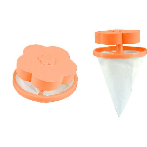 Filtre, Utilise dans les machines a laver pour collecter les poils d'animaux, orange et blanc