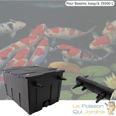 Filtre + UV 18W, Pour Bassin De Jardin Jusqu'à 35000 Litres