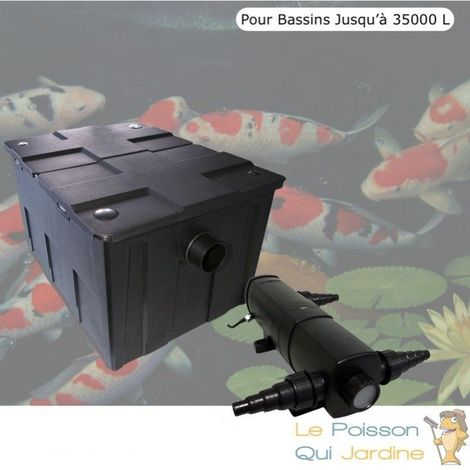 Filtre + UV 24W, Pour Bassins De Jardin Jusqu'à 35000 Litres
