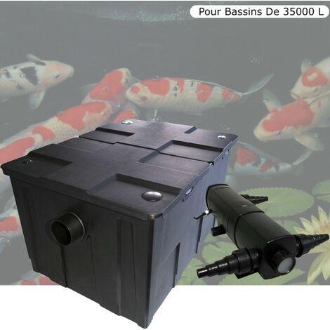Filtre + UV 72W, Pour Bassin De Jardin Jusqu'à 35000 L