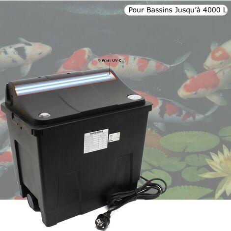 Filtre + UV 9W Pour Bassin De Jardin, Jusqu'à 4000 Litres