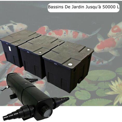 Filtre + UV Stérilisateur 36W, Bassin De Jardin Jusqu'à 50000 Litres