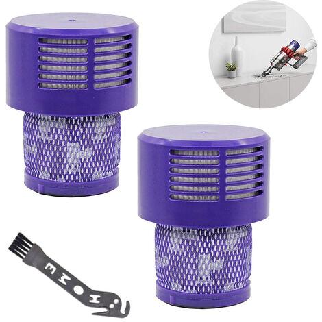 Filtre V11 pour 2 pièces Filtre de remplacement lavable livré avec une brosse de nettoyage pour aspirateur absolu V11 Cyclone Animal remplacer