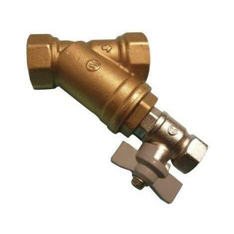 Filtre Y laiton avec tamis inox - avec robinet de rinçage - Sferaco - Plusieurs modèles disponibles