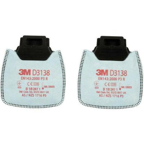 Filtres particules D3138 P3R au charbon actif 3M (Par 2)