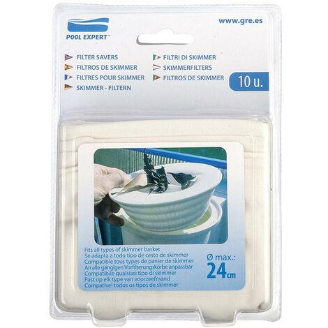 Filtres pour skimmer, Pack de 10 filtres pour skimmer.
