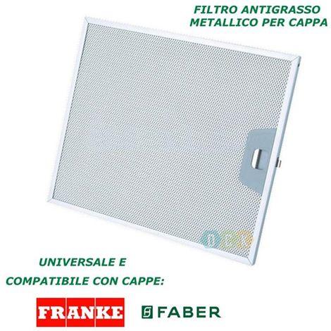 Filtro Cappa Alluminio Metallico 253X300X8Mm Antigrasso Faber ...
