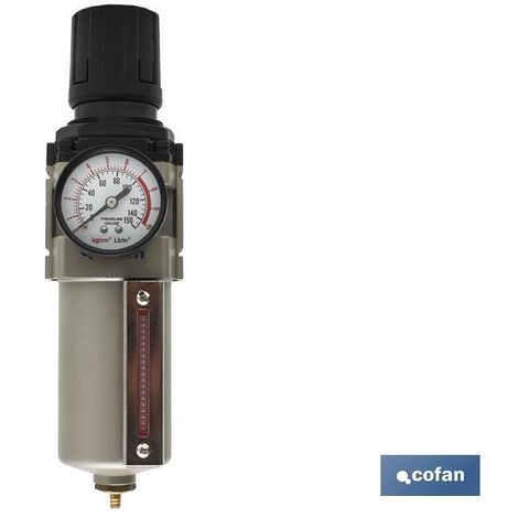 Filtro con regulador decantador de instalaciones neumáticas 09000921