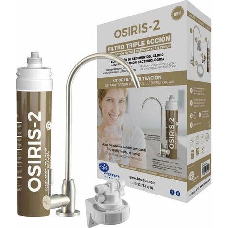 Filtro de agua bajo encimera de triple acción. Osiris-2. Bbagua.
