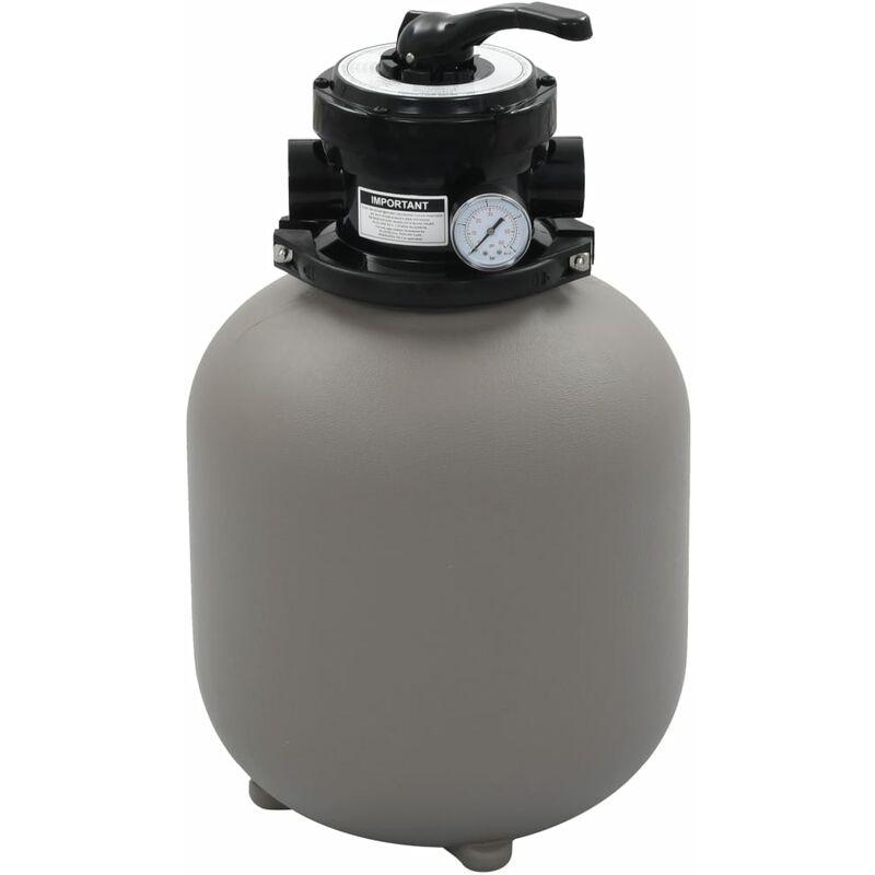 Filtro de arena de piscina válvula de 4 posiciones gris 350 mm - Gris