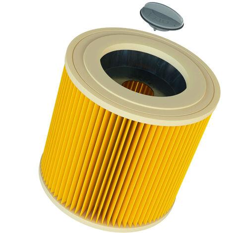 Filtro de cartucho, filtro para aspiradoras Kärcher como WD 1, WD2, WD3, SE 4001, SE 4002, a2204, a2604, reemplaza 6.414-552.0 de vhbw